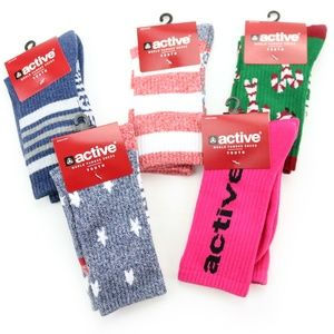 Active Youth Socks FIVE PAIRS! American Flag